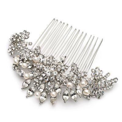 Alexa Simulated Pearl and Rhinestone Bridal Comb