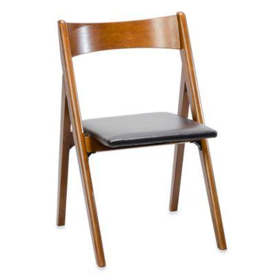 A-Frame Wood Folding Chair in Walnut