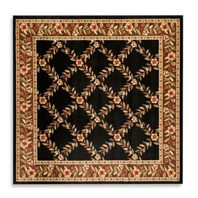 6' 7 Brown Square Rug