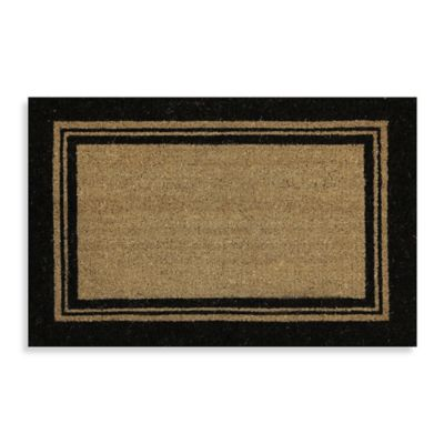 Mohawk Basic Border 23-Inch x 35-Inch Coir Door Mat in Black