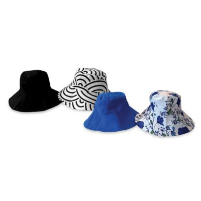 Fashion Flips Reversible Sun Hat in Black