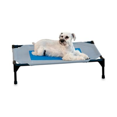 K&H Coolin' Gel Medium Pet Cot in Grey/Blue