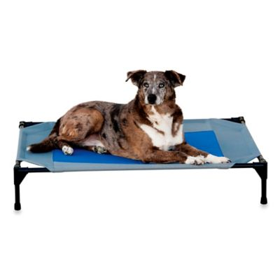 K&H Coolin' Gel Large Pet Cot Grey/Blue