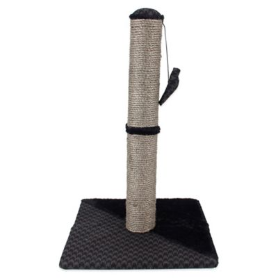 Max & Marlow 30-Inch Sisal Scratch Post with Houndstooth Fabric Cover