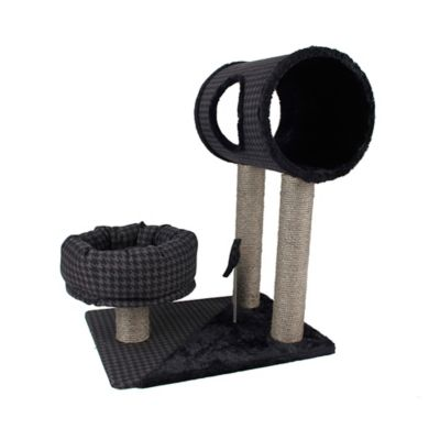 Max & Marlow Cat Tree 31-Inch Play Set in Houndstooth