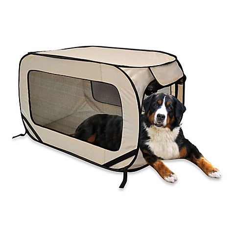 buy pop up extra large pet kennel in khaki from bed bath With pop up dog kennel extra large