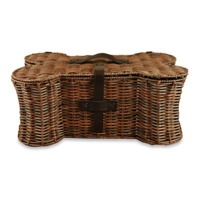Bone Shaped Pet Toy Small Storage Basket