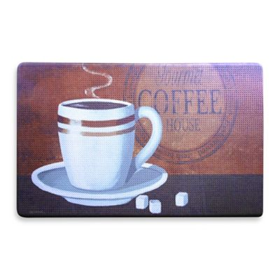 Anti-Fatigue Kitchen Mat in Coffee Pattern