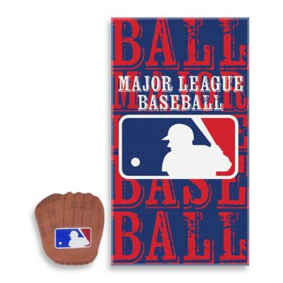 MLB All-League Bath Towel and Wash Mitt Set