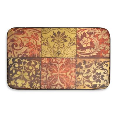 Designer Chef 18-Inch x 30-Inch Red Mosaic Anti-Fatigue Mat