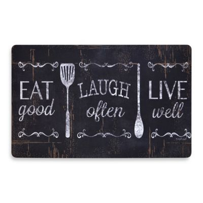 Soothing Chef Eat Laugh Love 19.7-Inch x 31.5-Inch Anti-Fatigue Kitchen Mat