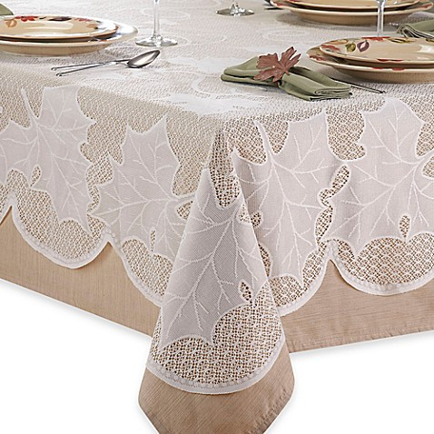 Buy Ivory Lace 60 Inch X 84 Inch Tablecloth From Bed Bath