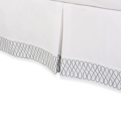 COCOCOZY™ Grey Loop Twin Bed Skirt in White/Grey