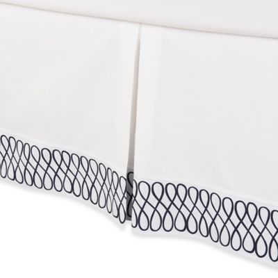COCOCOZY™ Loop Queen Bed Skirt in Navy