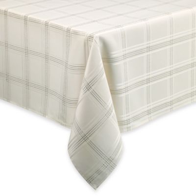 Sparkle Plaid Lurex Microfiber 70-Inch Round Tablecloth
