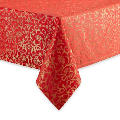 Red Jacquard Table Linens