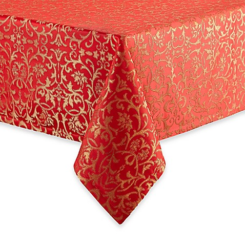 Buy waterford linens topaz 52 inch x 70 inch oblong for Table runners 52 inches