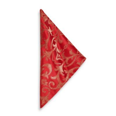 Gold Red Table Linen