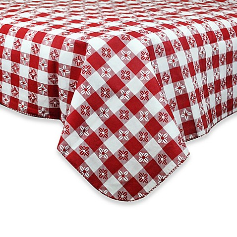 Checkered Peva Tablecloth Www Bedbathandbeyond Com