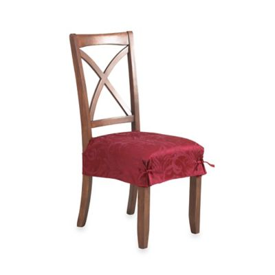 Autumn Scroll Damask Seat Cover in Wine (Set of 2)