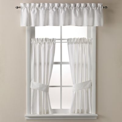 Wamsutta® Cane 14-Inch Bath Window Valance in White