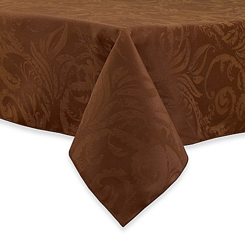 Autumn Scroll Damask Tablecloth Bedbathandbeyond Com