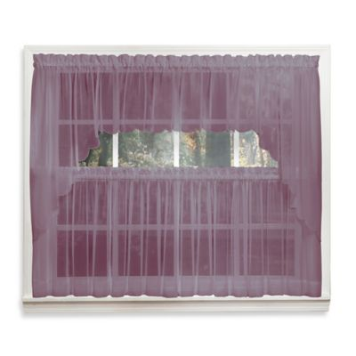 Emelia 14-Inch Sheer Window Valance in Amethyst