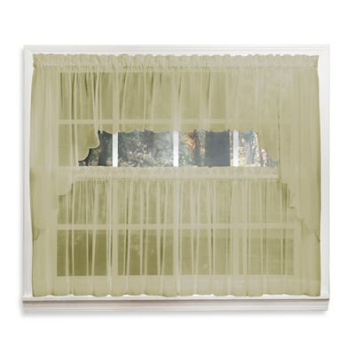 Emelia 14-Inch Sheer Window Valance in Leaf