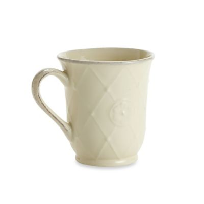 Meridian Cream Decorated 12 oz. Mug