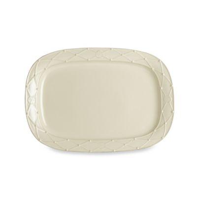 Meridian Cream 17-Inch Rectangular Platter