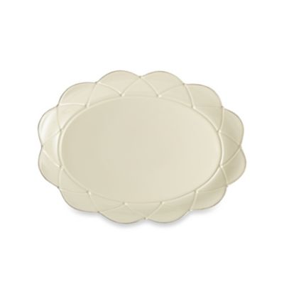 Meridian Cream 17-Inch Large Oval Platter