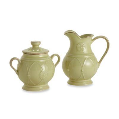Meridian Green 6-Inch Creamer & 5-Inch Sugar Bowl