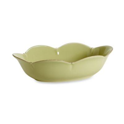 Meridian Oval Green 14.25-Inch Serving Bowl