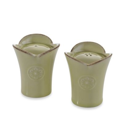 Meridian Green 3-Inch Salt & Pepper Shakers