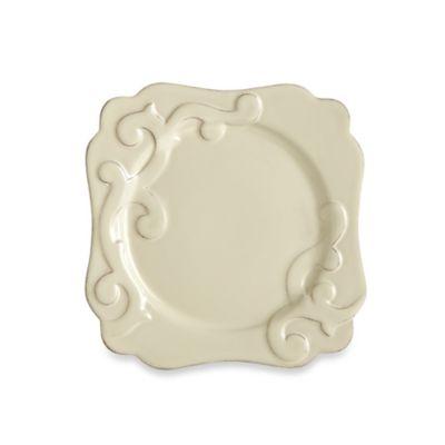Casafine Arabesque 8.75-Inch Square Salad Plate in Cream