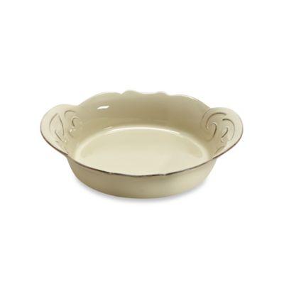 Casafine Arabesque 9.5-Inch Pasta Bowl in Cream