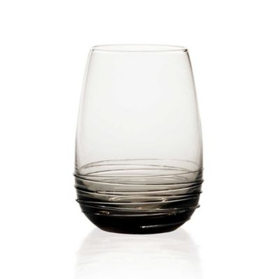 Mikasa® Swirl Stemless Wine Glasses in Smoke (Set of 4)