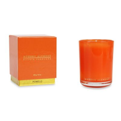 Modern Alchemy Pomelo Scented Small Candle Tumbler in Orange