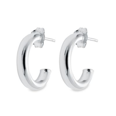 Sterling Silver 3/4-Inch Half-Hoop Earrings
