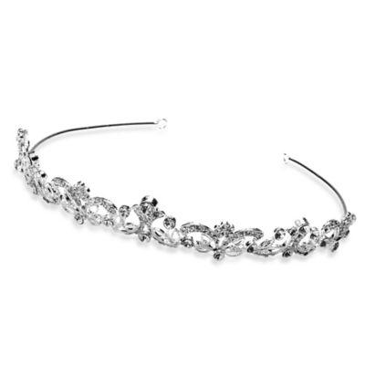 Delicate Swirl Petite Bridal Tiara Crown