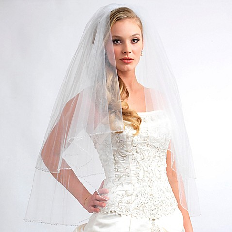 Sophie Elbow Length 2 Layer Swarovski Crystal Bridal Veil