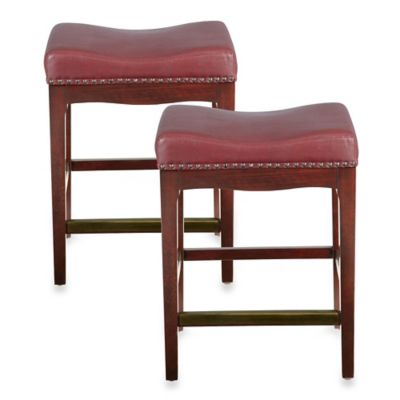 Bombay® Griffin 30-Inch Barstools in Red (Set of 2)