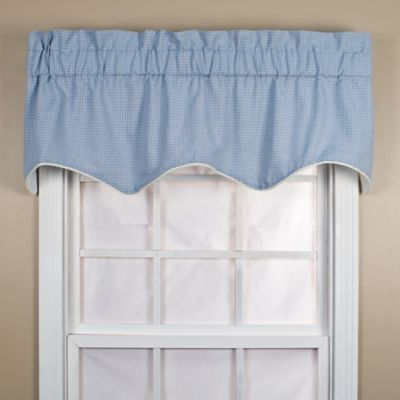 Landis 15-Inch Window Valance in Blue