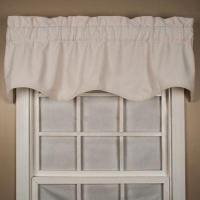 Landis 15-Inch Window Valance in Natural