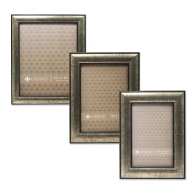Lawrence Frames Domed Burnished Silver & Black 4-Inch x 6-Inch Picture Frame