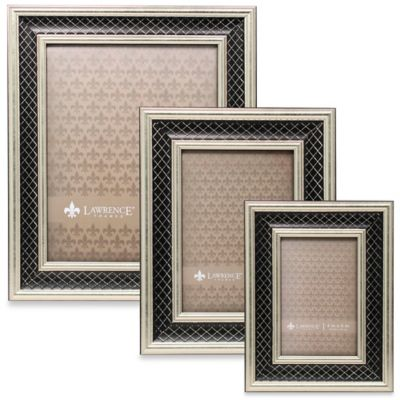 Lawrence Frames Silver & Black Lattice 4-Inch x 6-Inch Picture Frame