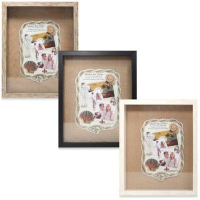 Lawrence Frames 11-Inch x 14-Inch Front Hinged Shadow Box in White