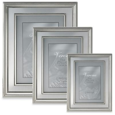 Lawrence Frames 8-Inch x 10-Inch Silver-Plated Picture Frame with Brushed Inner Panel
