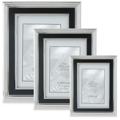 Lawrence Frames Silver-Plated 8-Inch x 10-Inch Picture Frame with Satin Black Inner Panel