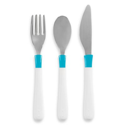 OXO Tot® Cutlery Set for Big Kids in Aqua